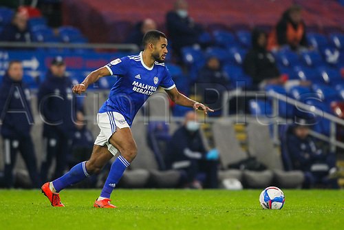 3rd November 2020; Cardiff City Stadium, Cardiff, Glamorgan, Wales; English Football League Championship Football, Cardiff City versus Barnsley; Curtis Nelson of Cardiff City brings the ball forward