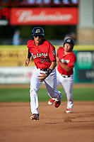 Billings Mustangs Victor Ruiz (26) runs to third base during a Pioneer League game against the Grand Junction Rockies at Dehler Park on August 15, 2019 in Billings, Montana. Billings defeated Grand Junction 11-2. (Zachary Lucy/Four Seam Images)