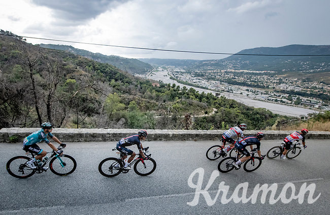Egan Bernal (COL/Ineos Grenadiers) descending<br /> <br /> 7th La Course by Tour de France 2020 <br /> 1 day race from Nice to Nice (96km)<br /> <br /> ©kramon