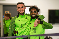 Matt Grimes and Nathan Dyer of Swansea City during the Swansea City Training at The Fairwood Training Ground in Swansea, Wales, UK.  Wednesday 08 January 2020