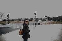 Washington- National Museum of African American History and Culture<br /> una ragazza di colore sorride