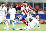 Real Madrid's Sergio Ramos (r) and Atletico de Madrid's Yannick Ferreira Carrasco during UEFA Champions League 2015/2016 Final match.May 28,2016. (ALTERPHOTOS/Acero)