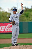 Pittsburgh Panthers infielder Alex Caravella (32) during game against St.John's Red Storm at Jack Kaiser Stadium in Queens, New York;  May 7, 2011.  St. John's defeated Pittsburgh 7-0.  Photo By Tomasso DeRosa/Four Seam Images