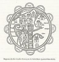 according to the Grandes Chroniques de Saint-Denis / Flammarion Histoire du ciel page 367 / 14th century