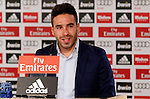 Real Madrid's new player Daniel Carvajal Ramos during his official presentation at the Santiago Bernabeu stadium in Madrid. July 05, 2013. (ALTERPHOTOS/Alex Cid)