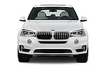 Car photography straight front view of a 2018 BMW X5 xDrive40e 5 Door SUV Front View