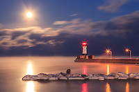 """Full Moon and Sea Smoke""<br />