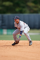 Detroit Tigers Alexander Fernandez Jr. (31) during a minor league Spring Training game against the Atlanta Braves on March 25, 2017 at the ESPN Wide World of Sports Complex in Orlando, Florida.  (Mike Janes/Four Seam Images)