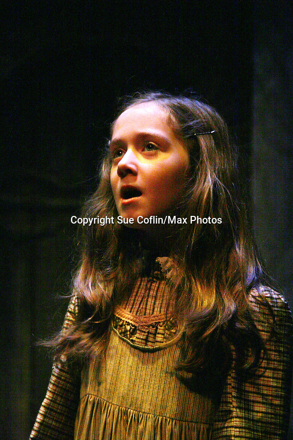"""Isabella Convertino - daughter of Liz Keifer stars in this musical as """"Mary Lennox"""" as Philipstown Depot Theatre presents The Secret Garden on November 15, 2009 in Garrison, New York. The musical The Secret Garden is the story of """"Mary Lennox"""", a rich spoiled child who finds herself suddenly an orphan when cholera wipes out the entire Indian village where she was living with her parents. She is sent to live in England with her only surviving relative, an uncle who has lived an unhappy life since the death of his wife 10 years ago. """"Archibald's son Colin"""", has been ignored by his father who sees Colin only as the cause of his wife's death.This is essentially the story of three lost, unhappy souls who, together, learn how to live again while bringing Colin's mother's garden back to life. (Photo by Sue Coflin/Max Photos)........"""