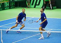 06-04-13, Tennis, Rumania, Brasov, Daviscup, Rumania-Netherlands,Hanescu en Copil