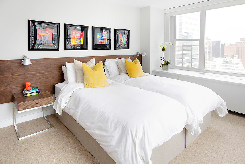 Contemporary wooden beds
