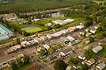 Aerial View of Downtown Troutdale, Oregon