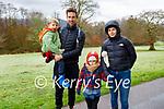 Sam, Arthur, Harry and Sarah Hunt enjoying a stroll in the town park in Killarney on Saturday.