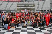 #18: Kyle Busch, Joe Gibbs Racing, Toyota Camry Skittles victory lane Toyota guests