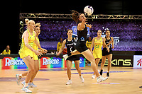 Gina Crampton of Silver Ferns during the Constellation Cup international netball series match between New Zealand Silver Ferns and Australian Diamonds at Christchurch Arena in Christchurch, New Zealand on Tuesday, 2 March 2021. Photo: Martin Hunter / lintottphoto.co.nz