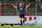 13.01.2021, xtgx, Fussball 3. Liga, VfB Luebeck - SV Waldhof Mannheim emspor, v.l. Marco Schuster (Mannheim, 6) Jubel ueber den Sieg, Jubel nach Spielende <br /> <br /> (DFL/DFB REGULATIONS PROHIBIT ANY USE OF PHOTOGRAPHS as IMAGE SEQUENCES and/or QUASI-VIDEO)<br /> <br /> Foto © PIX-Sportfotos *** Foto ist honorarpflichtig! *** Auf Anfrage in hoeherer Qualitaet/Aufloesung. Belegexemplar erbeten. Veroeffentlichung ausschliesslich fuer journalistisch-publizistische Zwecke. For editorial use only.
