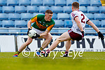 Jason Foley, Kerry in action against Jack Glynn, Galway during the Allianz Football League Division 1 South Round 1 match between Kerry and Galway at Austin Stack Park in Tralee.