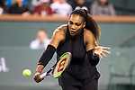 March 08, 2018: Serena Williams (USA) defeated Zarina Diyas (KAZ) 7-5, 6-3 at the BNP Paribas Open played at the Indian Wells Tennis Garden in Indian Wells, California. ©Mal Taam/TennisClix/CSM