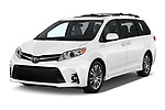 2020 Toyota Sienna XLE 5 Door Mini Van angular front stock photos of front three quarter view