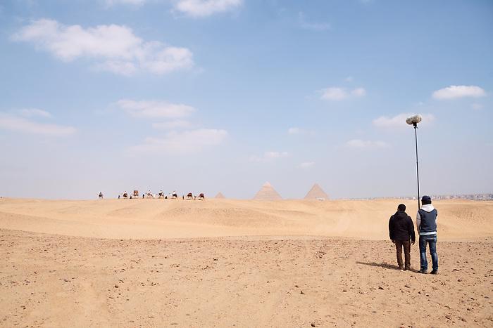 """Shooting of the series """"Wahet Al Gheroub"""" (""""Sunset Oasis """") Egypt, April 2017 (El Adl group)<br /> <br /> Tournage de la série """"Wahet Al Gheroub"""" (""""Le crépuscule de l'Oasis"""") Egypte, Avril 2017 (El Adl group)."""