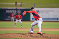 Springfield Cardinals pitcher Ronnie Williams (18) delivers a pitch on May 18, 2019, at Arvest Ballpark in Springdale, Arkansas. (Jason Ivester/Four Seam Images)