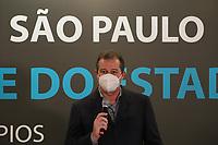 SÃO PAULO, SP, 10.06.2021 - POLÍTICA-SP - Luiz Fernando Teixeira Ferreira, Deputado Estadual (PT/SP), participa do anuncio de investimentos na área da Saúde de 427 municípios paulistas, incluindo a capital São Paulo, na Assembléia Legislativa do Estado de São Paulo - ALESP, nesta quinta-feira, 10. (Foto Charles Sholl/Brazil Photo Press)