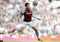 3rd October 2021; Tottenham Hotspur Stadium. Tottenham, London, England; Premier League football, Tottenham versus Aston Villa: Matty Cash of Aston Villa heads the ball out