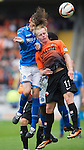 Dundee United v St Johnstone...24.08.13      SPFL<br /> Murray Davidson and Gary Mackay-Steven clash heads<br /> Picture by Graeme Hart.<br /> Copyright Perthshire Picture Agency<br /> Tel: 01738 623350  Mobile: 07990 594431