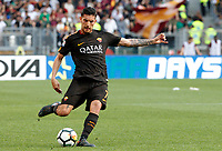 Roma s Lorenzo Pellegrini in action during the Italian Serie A football match between Roma and Chievo Verona at Rome's Olympic stadium, 28 April 2018.<br /> UPDATE IMAGES PRESS/Riccardo De Luca