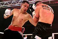 19th December 2020, Hamburg, Germany; Universal Boxing Promotion fight, Felix Sturm versus Timo Rost; Rost hits Sturn with a right upper cut