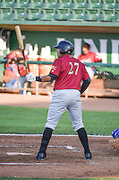 Joshua Banuelos (27) of the Idaho Falls Chukars at bat against the Ogden Raptors in Pioneer League action at Lindquist Field on June 22, 2015 in Ogden, Utah. The Chukars defeated the Raptors 4-3 in 11 innings. (Stephen Smith/Four Seam Images)