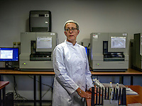 Ana Bilic carries out DNA testing at an International Commission on Missing Persons (ICMP) laboratory at ICMP headquarters in Sarajevo.