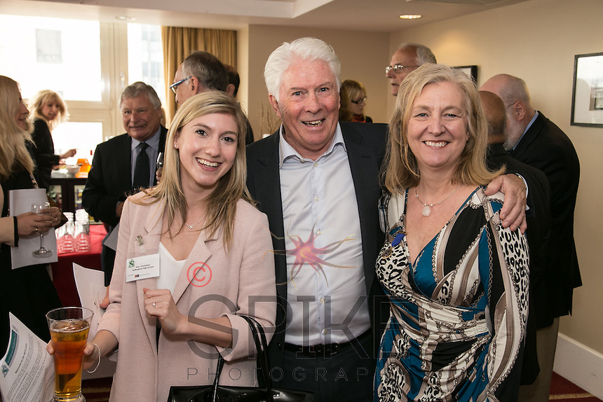 Big smiles from Amy Chambers of Nottingham High School, Peter Moore OBE of Bright Aspect Leisure and Dianne Allen Gemini PR & Marketing