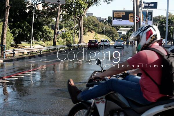 Campinas (SP), 27/01/2020 - Vazamento de agua, na av Norte Sul com rua Mogi Guacu, na manha desta segunda-feira (27), na cidade de Campinas (SP).