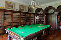 The library is also home to a large billiard table
