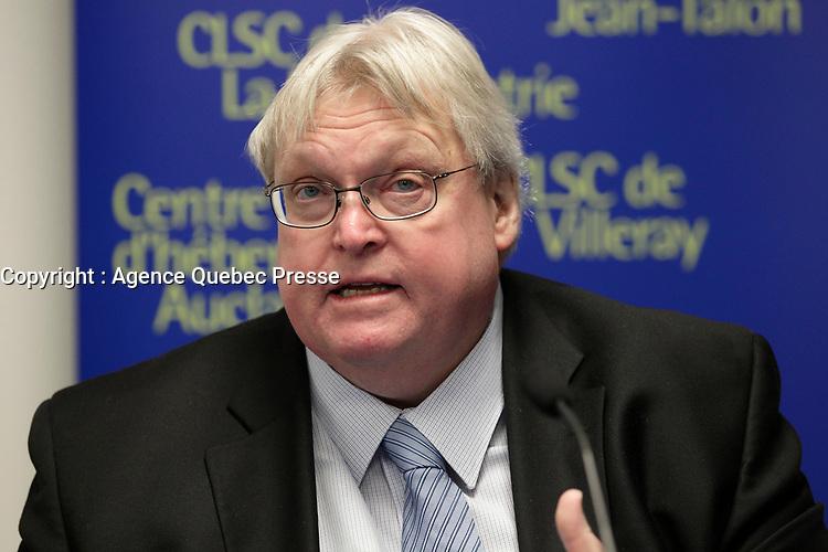 FILE PHOTO - <br /> Quebec Health Minister  Gatean Barrette in 2015<br /> <br /> <br /> <br /> MANDATORY CREDIT <br /> PHOTO : Pierre Roussel - Agence Quebec Presse