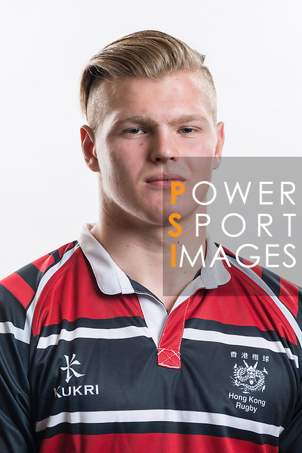 Hong Kong Junior Squad team member Alexander Post poses during the Official Photo Session Day at King's Park Sports Ground ahead the Junior World Rugby Tournament on 25 March 2014. Photo by Andy Jones / Power Sport Images