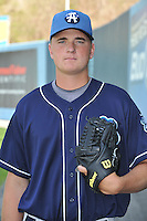 Josh Mueller #35 of the Asheville Tourists poses during media day at McCormick Field on April 4, 2011 in Asheville, North Carolina.  Photo by Tony Farlow / Four Seam Images..