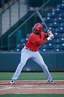 AZL Angels Cristian Gomez (37) at bat during an Arizona League game against the AZL Padres 1 on July 16, 2019 at Tempe Diablo Stadium in Tempe, Arizona. The AZL Padres 1 defeated the AZL Angels 3-1. (Zachary Lucy/Four Seam Images)