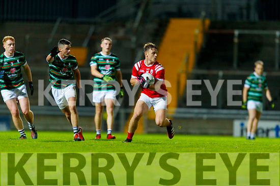 Darragh Roche, East Kerry in action against Trevor Wallace, St. Brendan's Board during the Kerry County Senior Football Championship Semi-Final match between East Kerry and St Brendan's at Austin Stack Park in Tralee, Kerry.