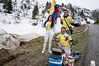 Colombian fans up the final part of the Monte Zoncolan <br /> <br /> 104th Giro d'Italia 2021 (2.UWT)<br /> Stage 14 from Cittadella›Monte Zoncolan (205km)<br /> <br /> ©kramon
