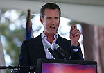 California Lt. Gov. Gavin Newsom speaks at the 18th annual Lake Tahoe Summit at the Valhalla Estate in South Lake Tahoe, Ca., on Tuesday, Aug. 19, 2014. <br /> Photo by Cathleen Allison