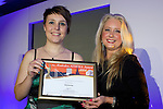 Pix: Shaun Flannery/shaunflanneryphotography.com<br /> <br /> COPYRIGHT PICTURE>>SHAUN FLANNERY>01302-570814>>07778315553>><br /> <br /> 4th April 2014.<br /> The Rotherham Athena Awards 2014.<br /> Honouree Emma Scott