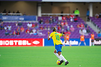 ORLANDO CITY, FL - FEBRUARY 21: Marta #10 of Brazil during a game between Brazil and USWNT at Exploria Stadium on February 21, 2021 in Orlando City, Florida.