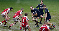 Photo: Richard Lane/Richard Lane Photography. Wasps v Ulster Rugby.  European Rugby Champions Cup. 21/01/2018. Wasps' Joe Launchbury attacks.