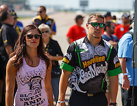 May 22, 2016; Topeka, KS, USA; NHRA pro stock driver Alex Laughlin during the Kansas Nationals at Heartland Park Topeka. Mandatory Credit: Mark J. Rebilas-USA TODAY Sports