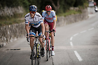 european champion Matteo Trentin (ITA/Mitchelton Scott) on the attack<br /> <br /> Stage 8: Nice to Nice (110km)<br /> 77th Paris - Nice 2019 (2.UWT)<br /> <br /> ©kramon