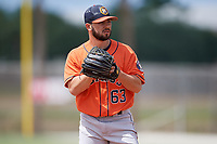 Houston Astros pitcher Brandon Bailey (63) during a Minor League Spring Training game against the St. Louis Cardinals on March 27, 2018 at the Roger Dean Stadium Complex in Jupiter, Florida.  (Mike Janes/Four Seam Images)