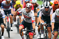 29th August 2020, Nice, France;  KRISTOFF Alexande celebrates during stage 1 of the 107th edition of the 2020 Tour de France cycling race, a stage of 156 kms with start in Nice