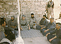 Iraq 2002 <br /> Meeting in Penjwin , 2nd right, Mullazem Omar Abdallah with Jowhar Namek,2nd left, with Islamists  <br /> Irak 2002<br />  Jowhar Namek, 2eme a gauche et Mullazem Omar Abdallah , 2eme a droite rencontrant a Penjwin  des islamistes